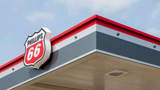 A new Phillips 66 gas station logo