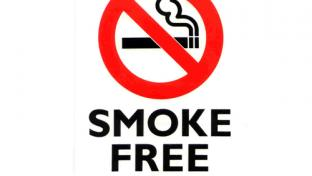 A Smoke Free Zone sign