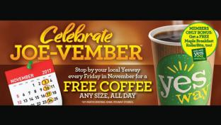 Yesway celebrates Joe-vember