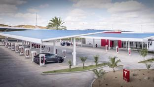 Tesla's Kettleman City, Calif., Supercharger Station