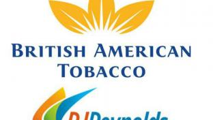 The logos for British American Tobacco and Reynolds American
