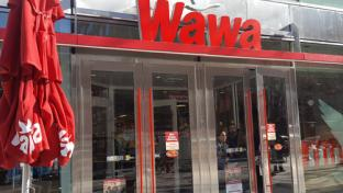 The exterior of Wawa's DC store