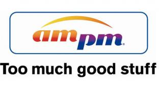 the logo for ampm retail brand
