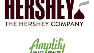 The Hershey Co. & Amplify Snack Brands Inc. logos