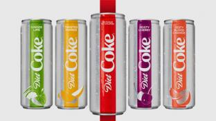 Diet Coke redesign and new flavors