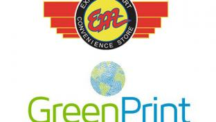 Express Mart and GreenPrint logos