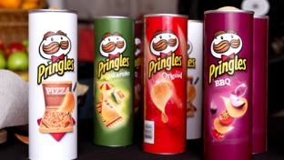 Four flavors of Pringles to stack