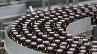 Red Stripe bottle production line