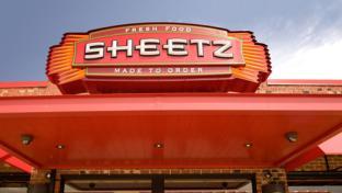 An exterior sign for a Sheetz Inc. convenience store