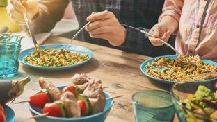 American family dinnertime