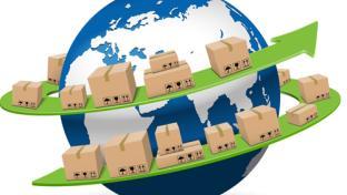 Trade shipments circling the globe