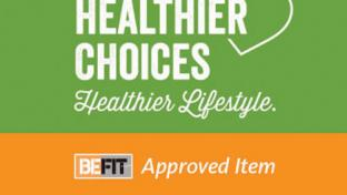 AAFES BE FIT program shelf tag