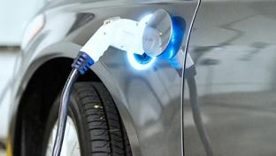 An electronic vehicle charging