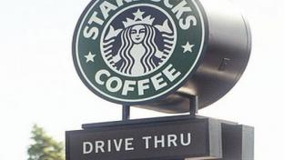 Starbucks drive-thru sign