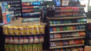 checkout counter at Twice Daily c-store