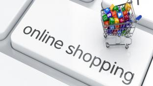 online shopping image on a keyboard