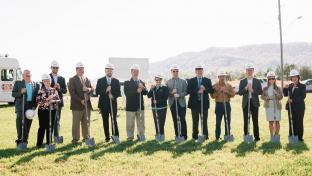 Hunt Brothers Pizza's groundbreaking ceremony