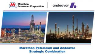 The Marathon and Andeavor merger
