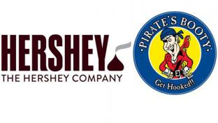 The Hershey Co. & Pirate's Booty logos
