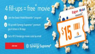 Exxon Mobile Rewards+ Fandango free movie giveaway