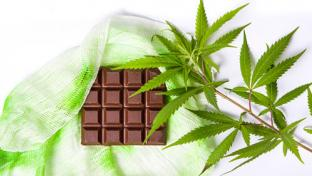 cannabis-infused chocolate bar