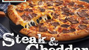 Hunt Brothers Pizza's Steak & Cheddar Pizza