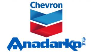 Logos for Chevron Corp. and Anadarko Petroleum Corp.