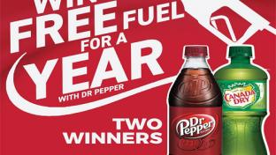 Thortons Free Fuel for a Year Dr Pepper
