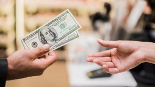 A cash retail transaction