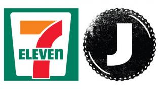 Logos for 7-Eleven and Jones Soda Co.