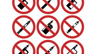 No vaping product signs
