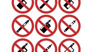 No vaping product signs