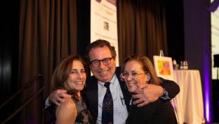 "Lauren C. Solotar, May Institute president and CEO (l); Leo Vercollone, CEO of VERC Enterprises; and Jolie Beaupre, parent, May Center School for Autism and Developmental Disabilities at ""An Evening of Hope & Possibility."""