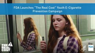 FDA Real Cost e-cigarette poster