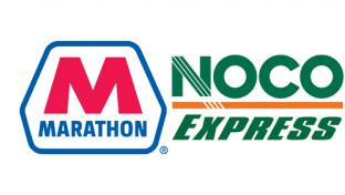 Logos for Marathon Petroleum and NOCO Express