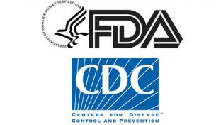 Logos for the FDA and CDC