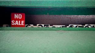Cash register no sale sign