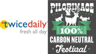 Twice Daily is teaming up with the Pilgrimage Music & Cultural Festival to reduce the event's carbon footprint.