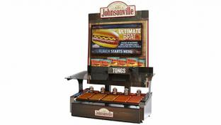Johnsonville Digital Roller Grill Merchandiser