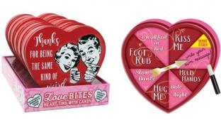 Love Bites and Naughty & Nice Spinning Heart Tins