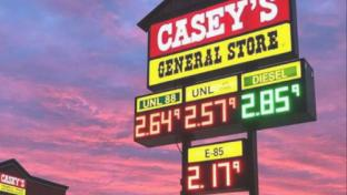 Casey's General Stores fuel sign