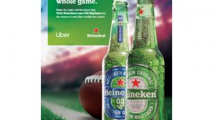 Heineken & Uber Partner on Big Game Promotion