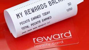 Rewards card and receipt
