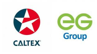 Logos for Caltex and EG Group