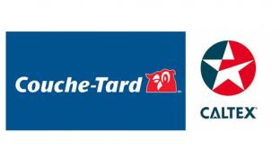 Logos for Couche-Tard and Caltex Australia