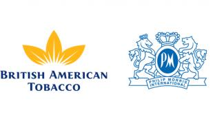 Logos for British American Tobacco and Philip Morris International