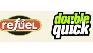 Logos for Refuel and Double Quick