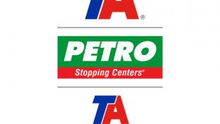 Logos for A, Petro Stopping Centers and TA Express