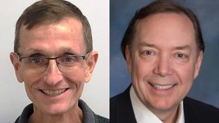 Kirk Matthews (l.) and Ed Burcher