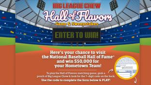 Big League Chew 'Hall of Flavors' Sweepstake